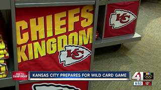 KC goes red ahead of Chiefs playoff game versus Titans - Video