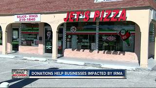 Donations help businesses impacted by Irma - Video