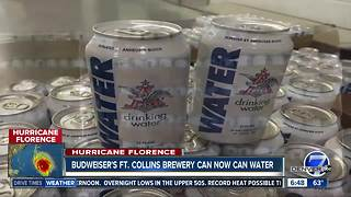 Anheuser-Busch canning emergency water in Ft Collins