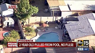 Two-year-old boy in critical condition after being pulled from Phoenix pool