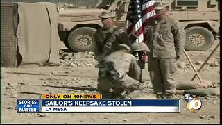 Sailor's keepsake stolen - Video
