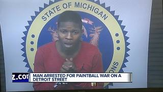 Man charged with assault after paintball gun battle in Detroit - Video
