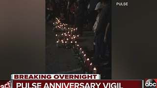 Pulse Anniversary Vigil Held Early Monday