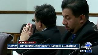 Denver City Council reacts to sexual harassment allegations against Mayor Hancock - Video