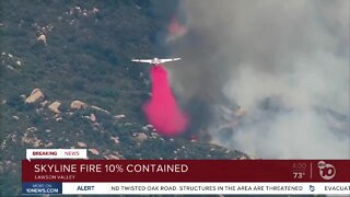Skyline Fire 10% contained