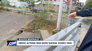 Man Saves Suicidal Elderly Man - Video