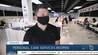 Personal Care Services Reopen