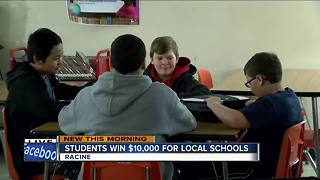 Students win $10,000 for local schools - Video