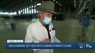 Oklahomans get help with unemployment claims