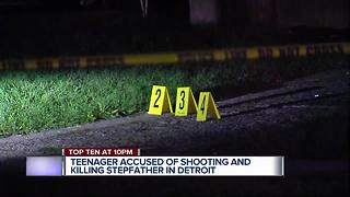 Teen accused of shooting and killing stepfather in Detroit - Video