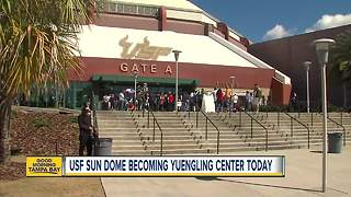 Longtime Tampa events venue becomes Yuengling Center - Video