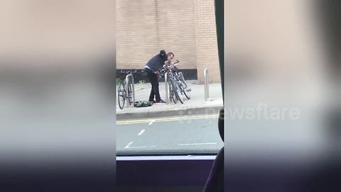 Brazen man attempts to steal bike in broad daylight in central Manchester