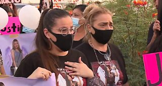 Family, friends march to honor 22-year-old Lesly Palacio