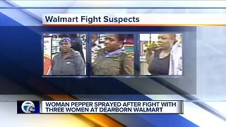 Police search for 3 women in Walmart fight that ended with pepper spray - Video