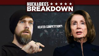 Jack Dorsey In HEATED Competition With NANCY PELOSI! | Breakdown | Huckabee