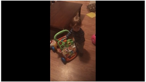 Baby Boy Loves To Dance To The Music Of His Walker