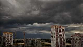 Sky before the strong storm - Cumulonimbus clouds - Video