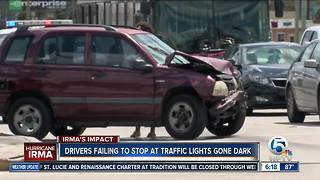 Traffic lights not working at many intersections - Video