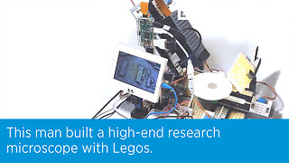 This man built a high-end research microscope with Legos.