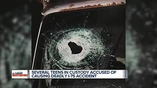 Several teens in custody for throwing rocks on I-75 that killed man - Video