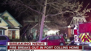 Family escapes house fire in Fort Collins - Video
