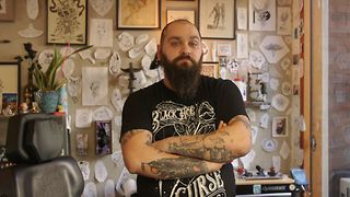 Williamsburg Tattoo Artist Burak Moreno Puts Needle To Skin With Funky Designs - Video