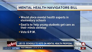 Lee County School Board to approve mental health navigators for elementary schools