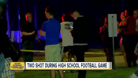 Two people shot during high school football game in West Palm Beach, Florida