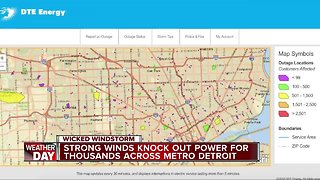 DTE working to get power restored after high winds
