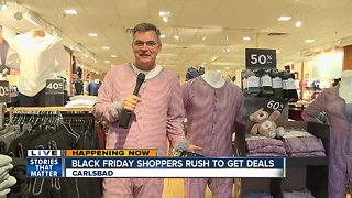 10News reporter gets into the Black Friday mood