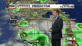 Forecast: Sunday will start out with sunshine and humid conditions before PM storms arrive