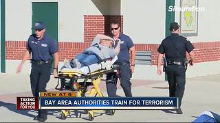 Bay area authorities train for terrorist attacks - Video