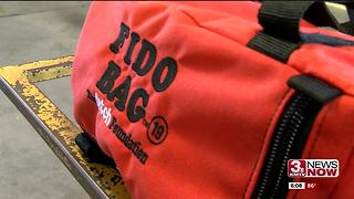 Omaha Fire Department receives Fido bags - Video