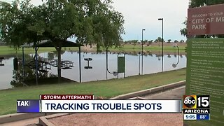 Flood control tracking trouble spots throughout the Valley