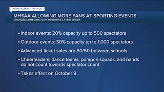 MHSAA allowing more fans at sporting events
