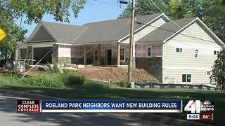 Roeland Park neighbors want new building rules