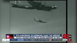 Edwards Airforce Base celebrating 70th anniversary of supersonic flight - Video