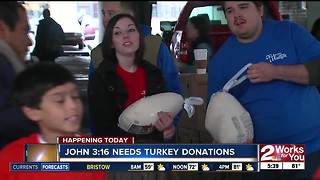 John 3:16 needs turkey donations for Thanksgiving - Video