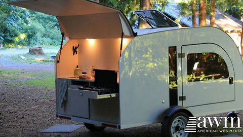Teardrop Camper Will Forever Change The Way People Camp, It Has Such A Smart Feature
