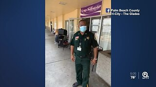 Deputies and volunteers distribute food to those in need in the Glades