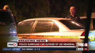 Police investigate car parked outside Lee Memorial emergency room