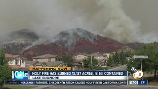 Holy Fire explodes to more than 18,000 acres on fifth day - Video
