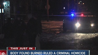 Body found 'burned beyond recognition' on Indy's northeast side ruled homicide - Video
