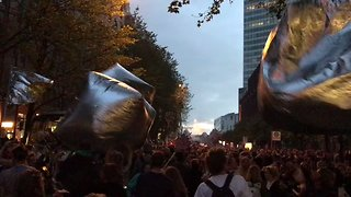 Anti-G20 Protesters Throw Massive Street Party in Hamburg - Video