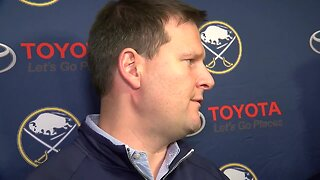 Jason Botterill speaks to the media following Sabres Development Camp