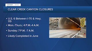 Clear Creek Canyon construction project