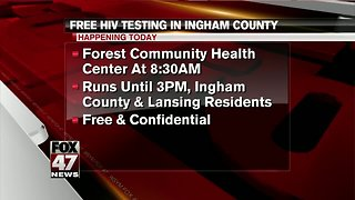 Free HIV testing day event today