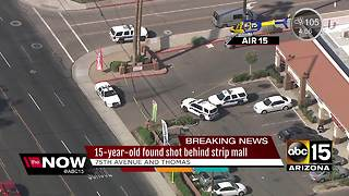 Teen shot behind shopping center in west Phoenix - Video