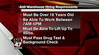 Aldi holding hiring event today - Video