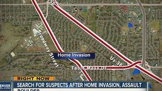 Search for suspects after home invasion, assault - Video